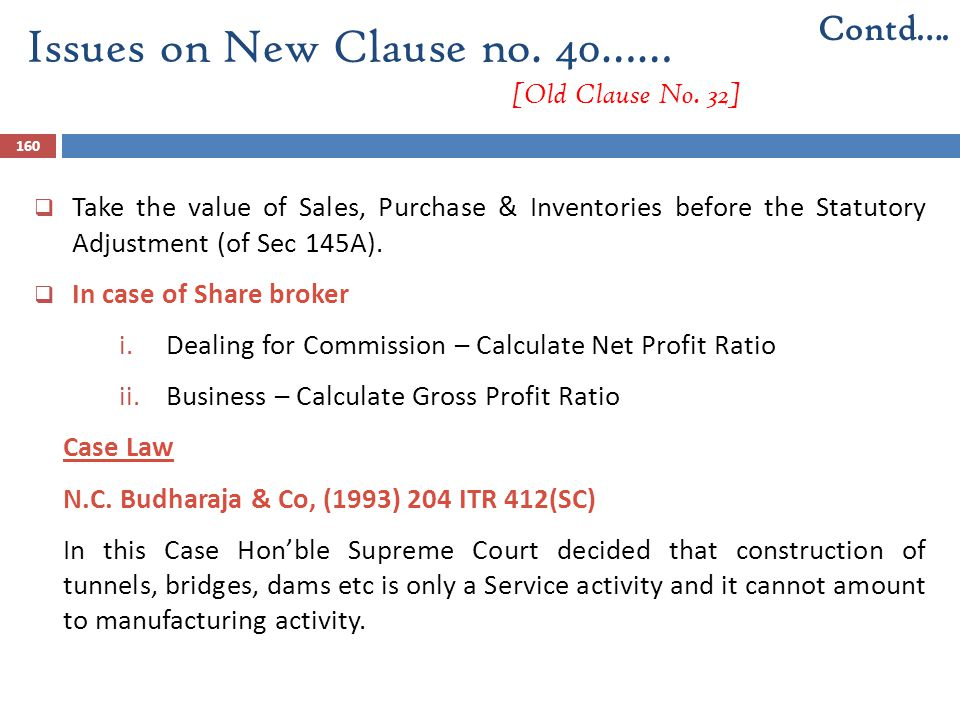 Issues on New Clause no. 40…… [Old Clause No. 32]